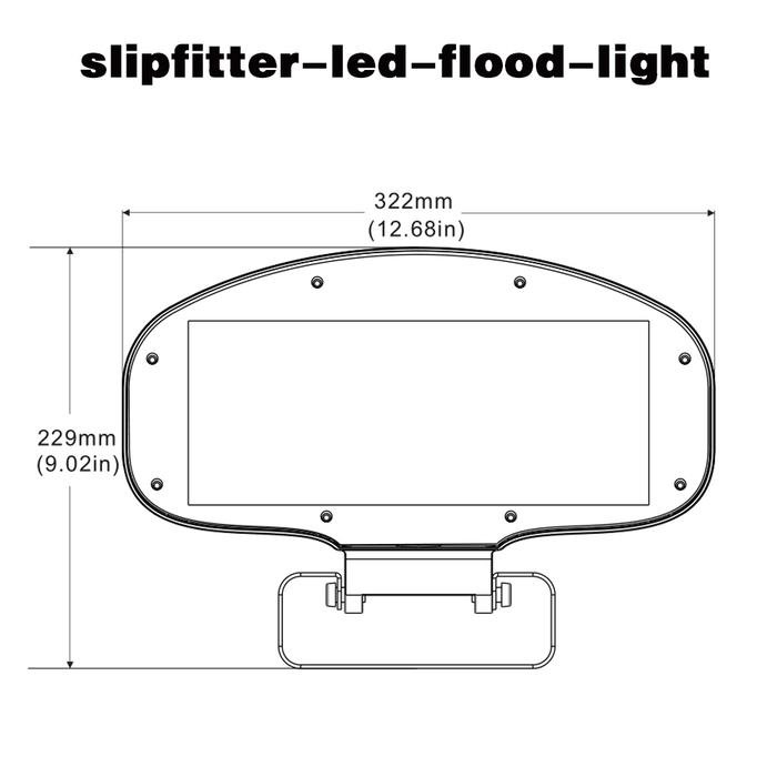 80 Watt IC Driver LED Flood Lights-bracket mount