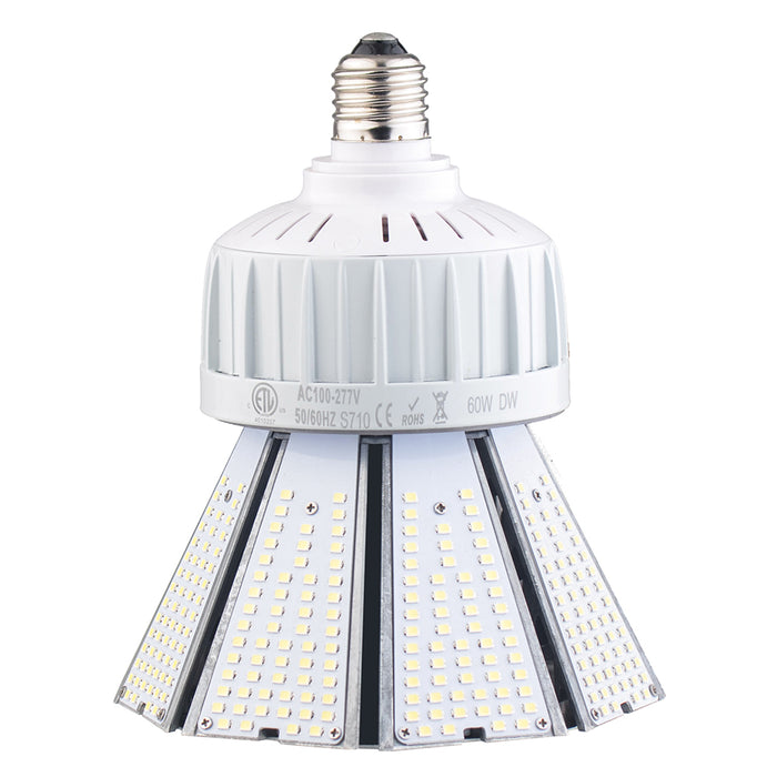 80W Post Top LED Corn light bulb 5000K 9600 lumens