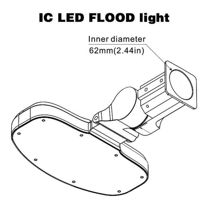 IC Driver Led Flood Light-60 Watt-Sliffiter Mount