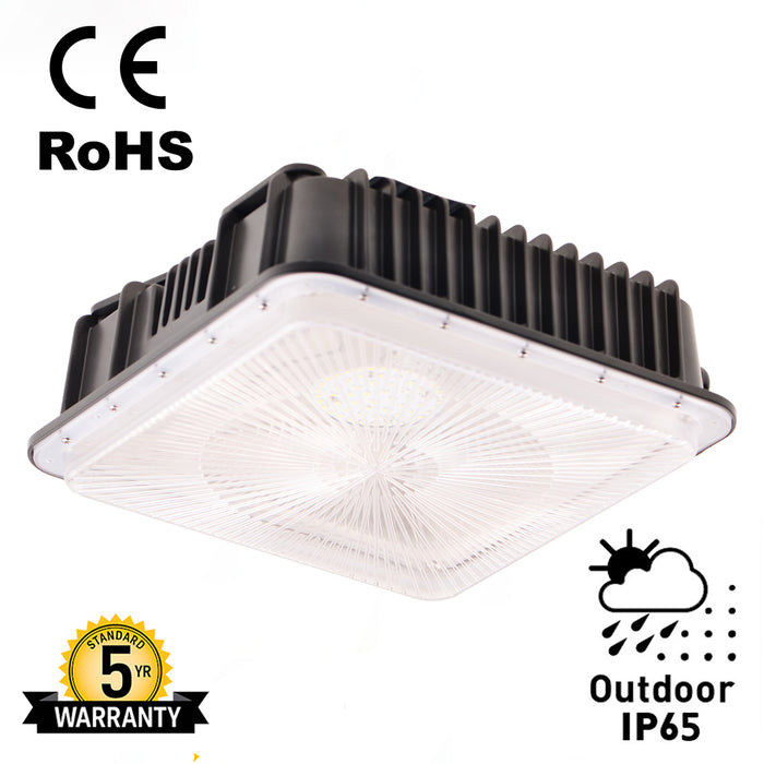 60 Watt Parking Garage LED Canopy light 5000K 7200Lumens