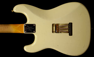 (#004) Olympic White SSS Parchment Pickguard - Homer T Guitar Co