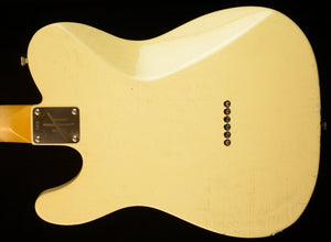 "(#066) ""Yellowed"" Olympic White - Homer T Guitar Co"