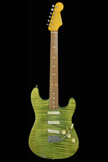 (#035) Green Flame - Homer T Guitar Co