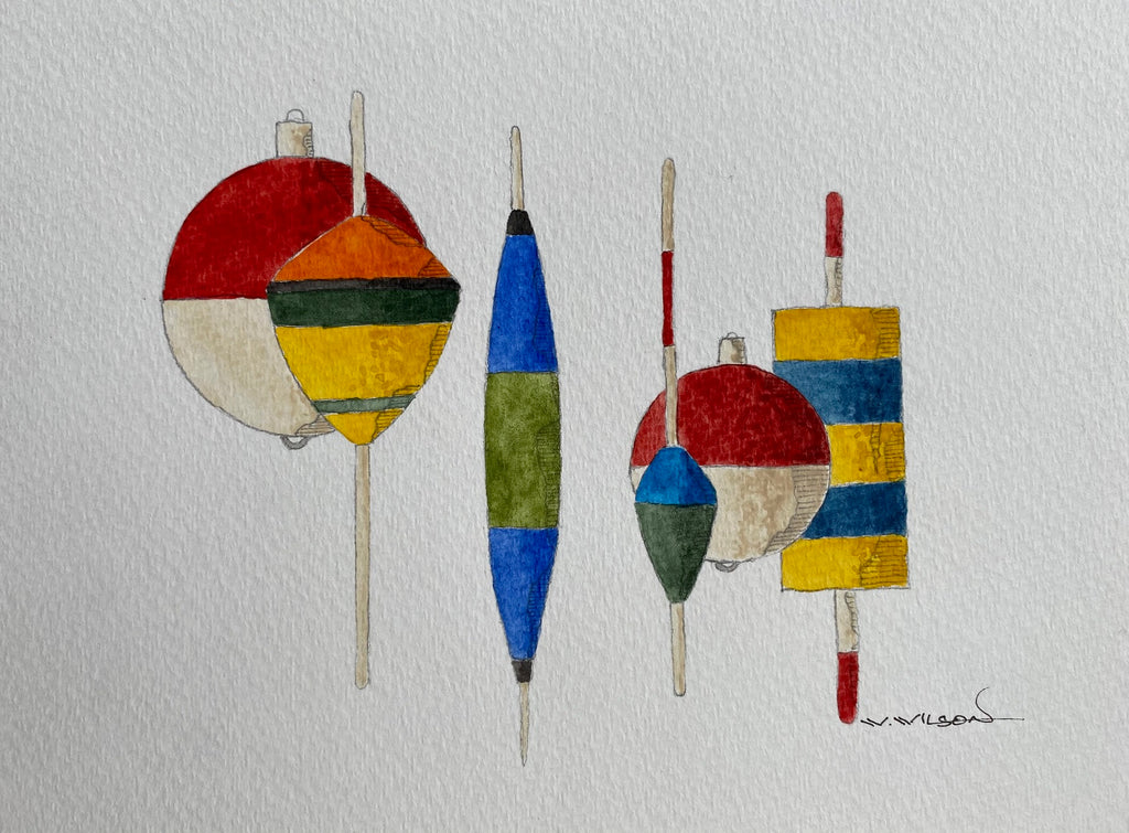 Vintage Fishing Bobbers - an artistic obsession!