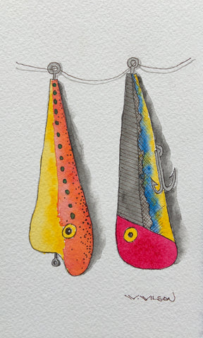 Old Wooden Fishing Plugs - new artwork
