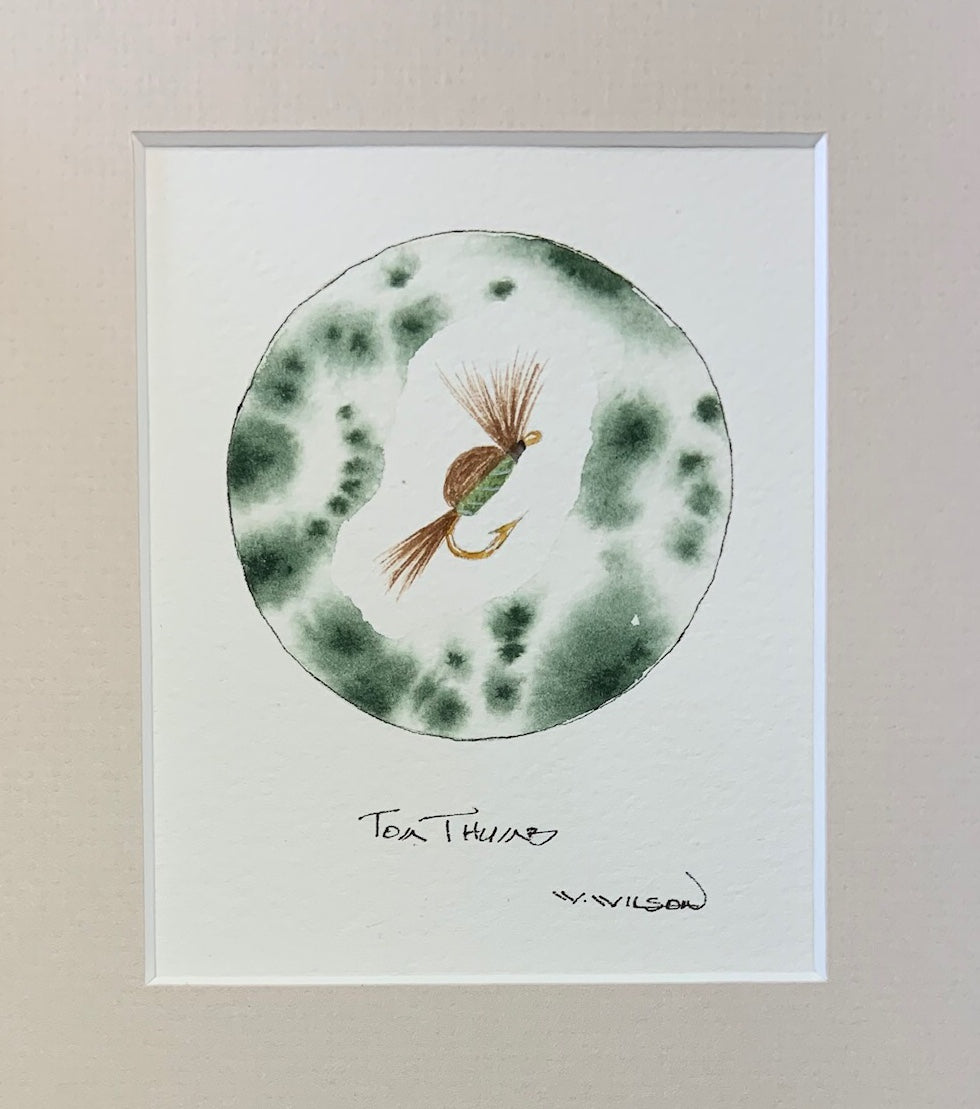 "Tom Thumb - Green 4"" X 5""h"