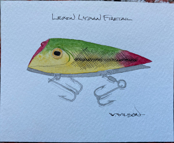 Lyman Lures - new design release - Lemon Lyman Firetail