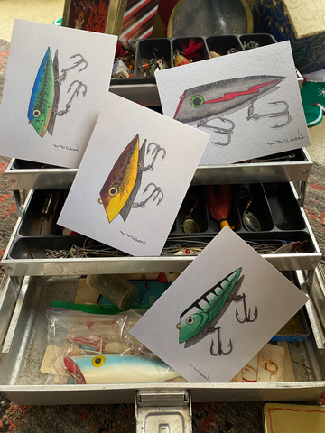 Fishing Lure Art Cards