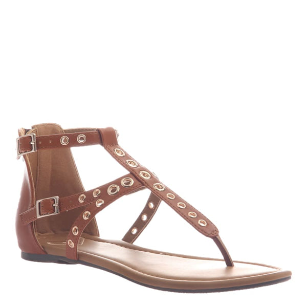 Augusta in Tobacco Flat Sandals | Women's Shoes by MADELINE | WOMEN FOOTWEAR
