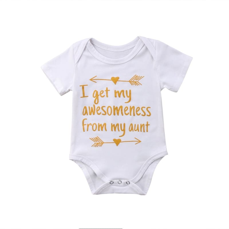 Awesome Aunt Onesie | Newborn Baby Shower Gift from Aunt | printed infant onesie