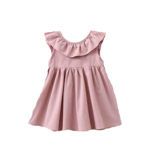 Baby Boutique Affordable Fashion Pink Ruffles and Bow Toddler Summer Sun Dress | toddler sundress