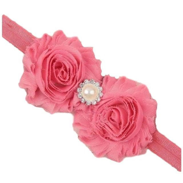 Baby Boutique Dressy Hair Bow Floral Embellished Headband Party Outfit | baby girl hair accessories