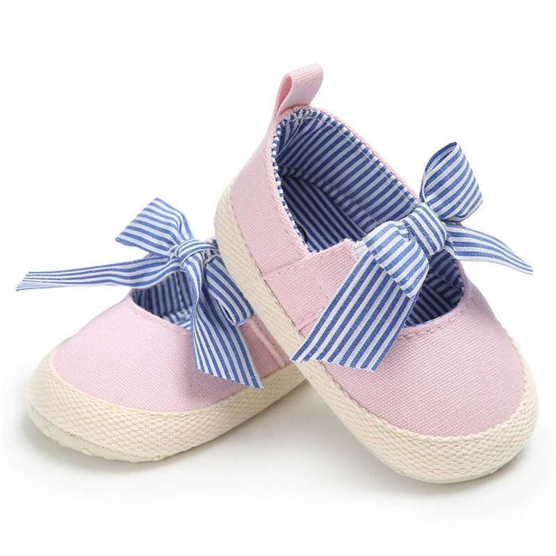 Baby Boutique Fashion Canvas Espadrille Mary Janes Infant Crib Shoes - Pink | Baby Shower Gift Ideas | baby crib shoe