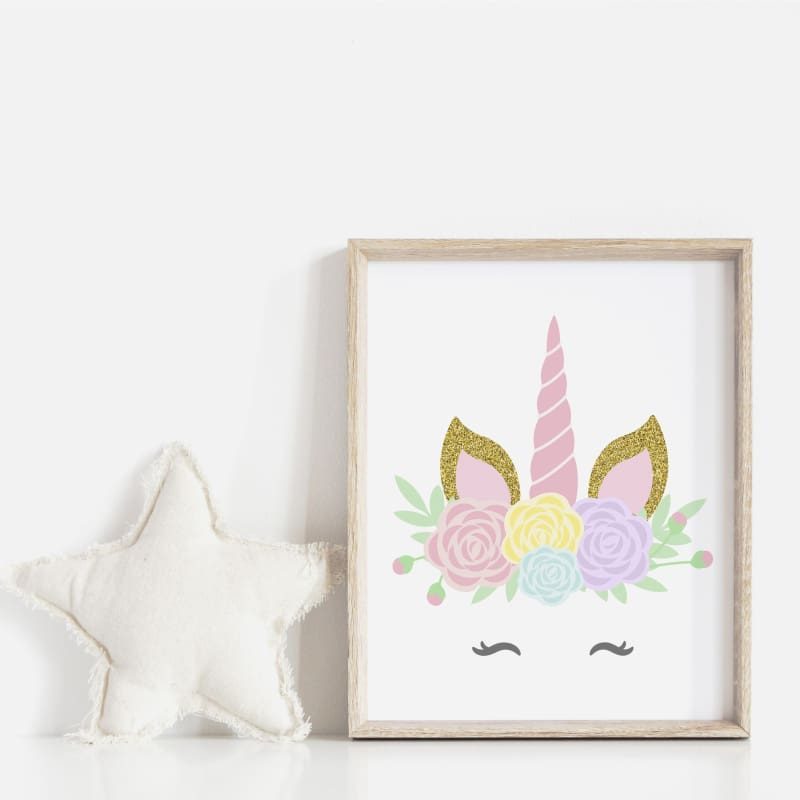 Baby Boutique Nursery Decor DIY Printable Unicorn Wall Print Inexpensive Baby Shower Gift Idea | printable download