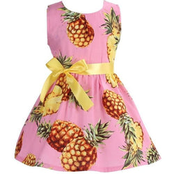 Baby Boutique Pineapple Tropical Party Dress for Play Date or Summer Birthday Party | pineapple toddler party dress
