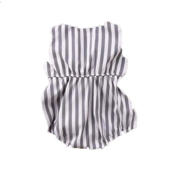 Baby Boutique Shower Gift Infant Striped Bow Romper Sunsuit One Piece | infant striped romper with bow