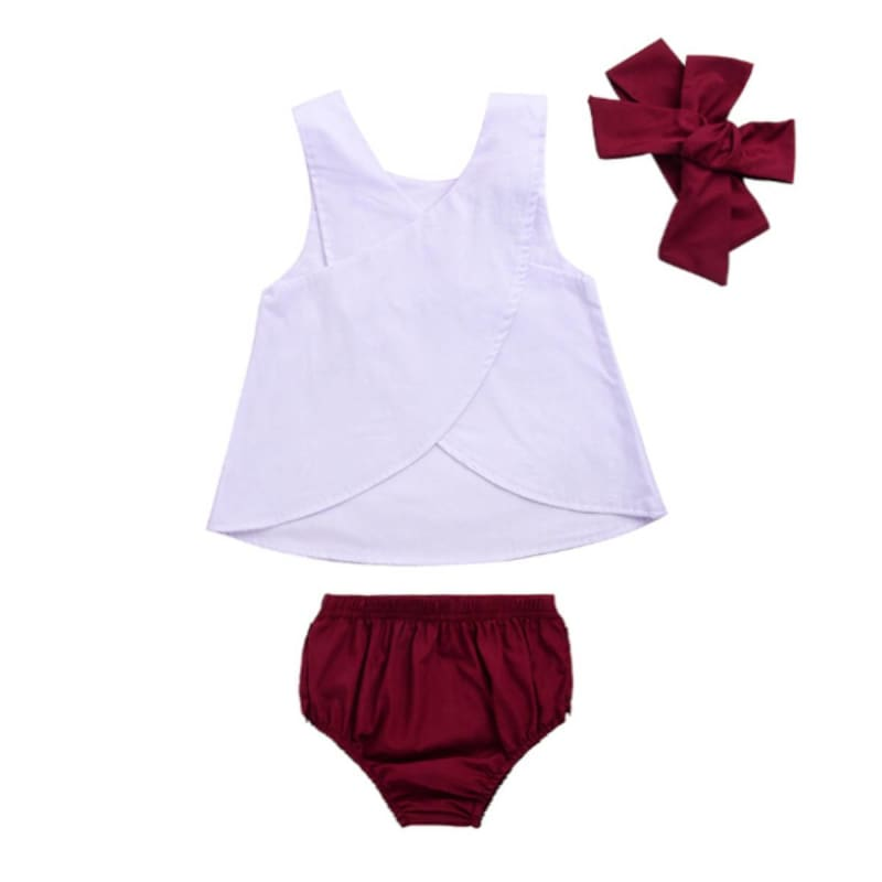 Baby Boutique Shower Gift Infant Toddler Summer Outfit 3 pc Set | Baby Girl Infant Set