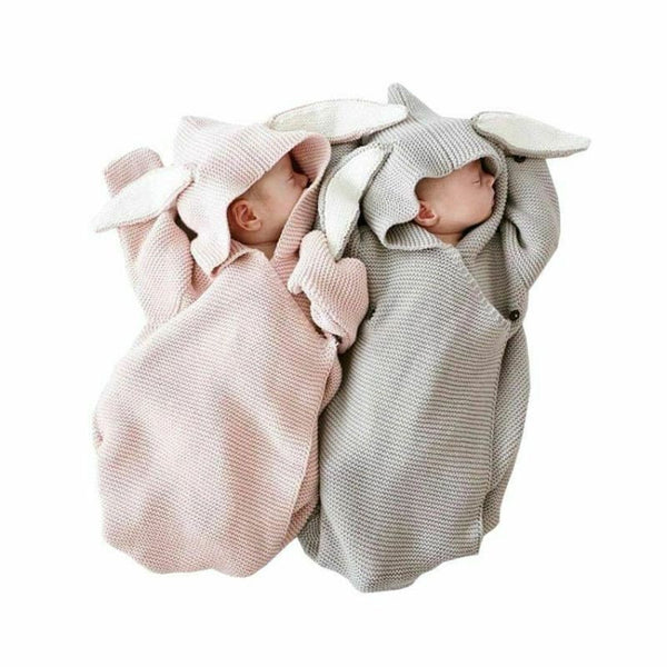 Baby Shower Gift Newborn Infant Bunny Swaddle Blanket Sleeping Bag | Newborn Baby Blanket Photo Prop