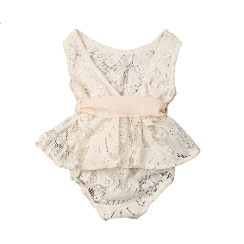 Boutique Fashion Ivory Lace Infant Romper Baby Gift Photo Shoot Outfit | infant outfit