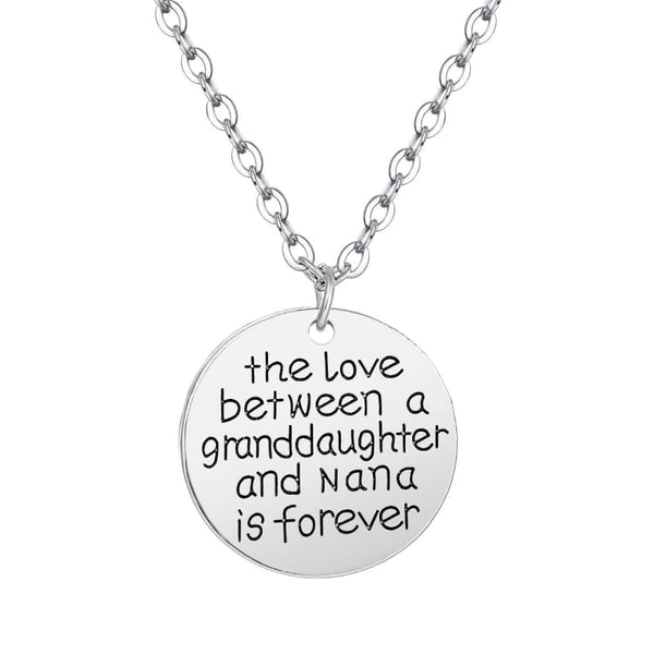 Boutique Style Gifts | Mother's Day Gift Idea for Grandmother | Nana + Granddaughter Love Necklace | Gifts for Mom