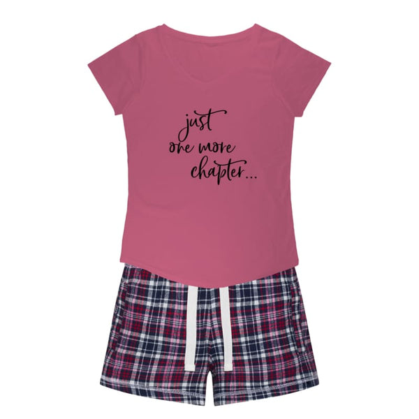 Boutique Style Mother's Day Gift Idea | Just One More Chapter Sleep Tee + Flannel Shorts Set | women's pajamas