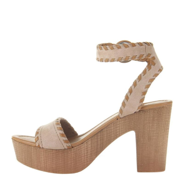 Bruh in Champagne Heeled Sandals | Women's Shoes by MADELINE GIRL | WOMEN FOOTWEAR