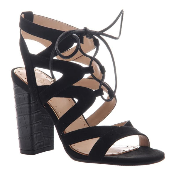 Brunette in Black Heeled Sandals | Women's Shoes by MADELINE | WOMEN FOOTWEAR