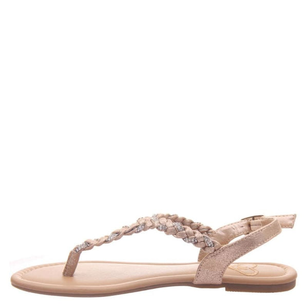 Charge in Medium Taupe Flat Sandals | Women's Shoes by MADELINE | WOMEN FOOTWEAR
