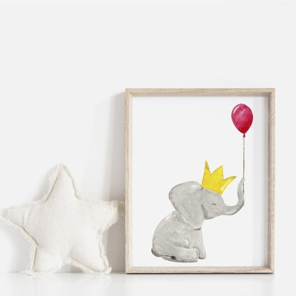 DIY Baby Nursery Elephant Printable Wall Art | printable download