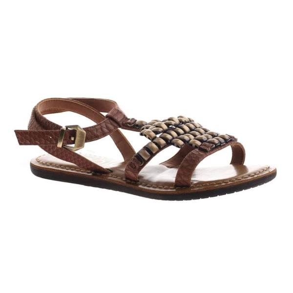Dorrie in Havana Flat Sandals | Women's Shoes by NICOLE | WOMEN FOOTWEAR