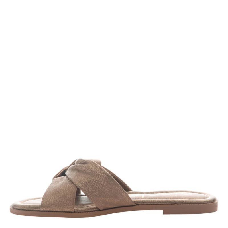 Effie in Copper Flat Sandals | Women's Shoes by NICOLE | WOMEN FOOTWEAR