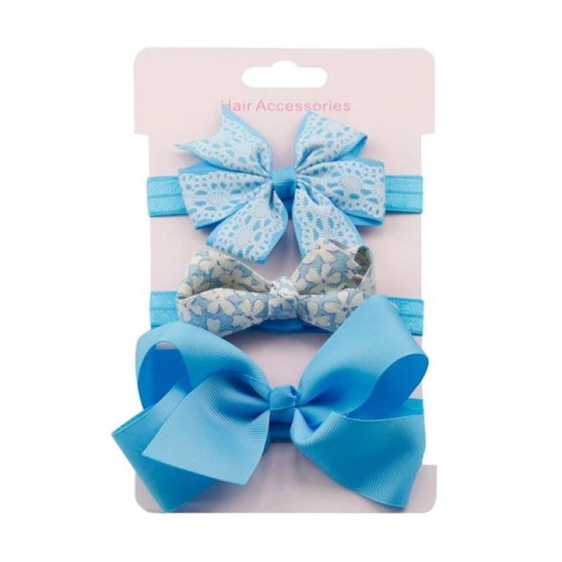 Fashion Boutique Baby Floral Headband Set Baby Bows Hair Accessories | baby girl hair accessories
