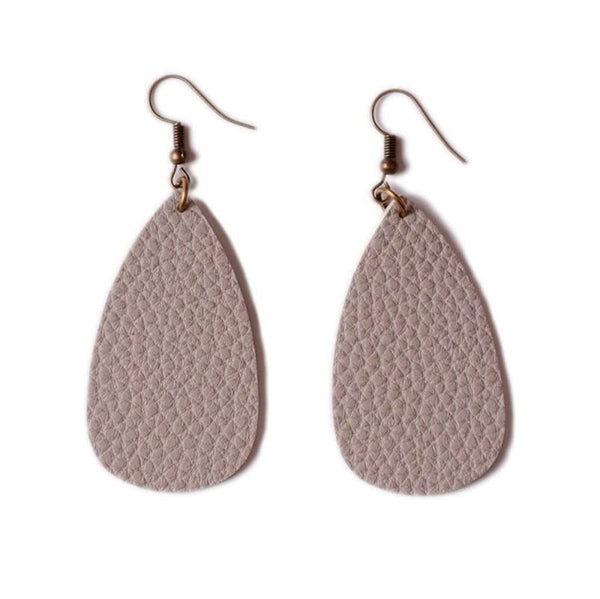 Fashion Boutique Light Statement Casual Leather Teardrop Earrings | Drop Earrings
