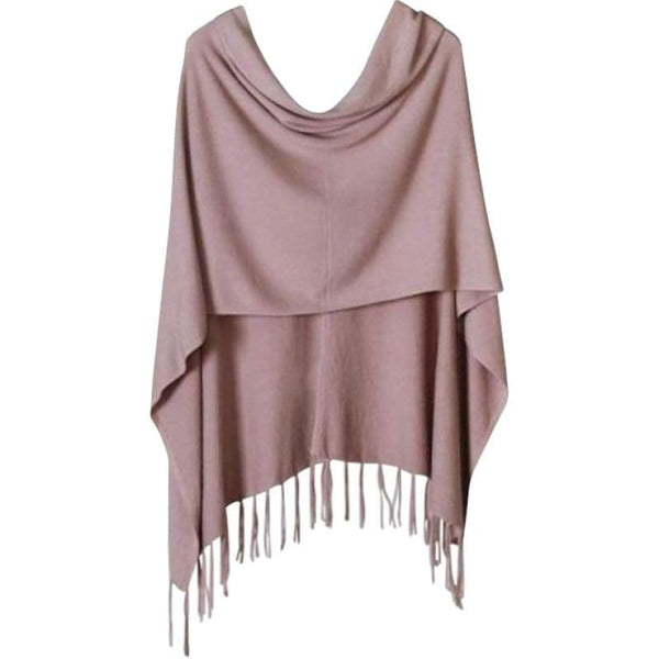 Fashion Boutique Olivaceous Fringed High-Low Poncho Layering Sweater | outerwear