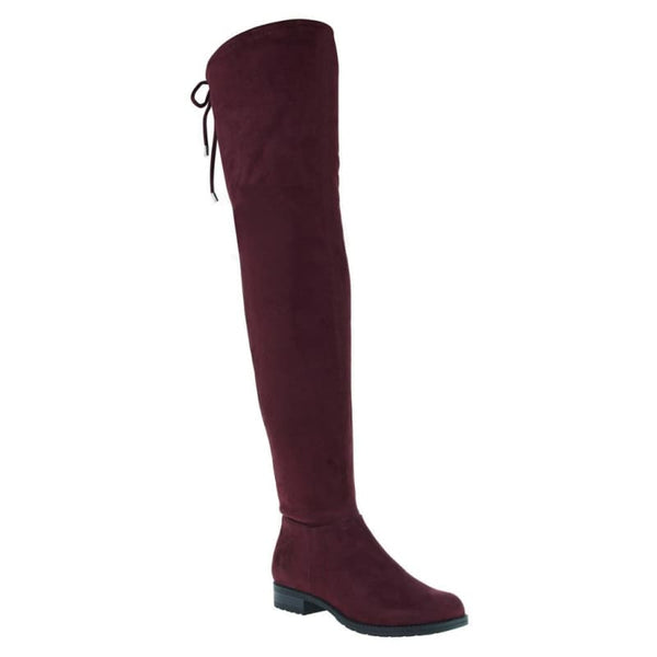 Folk Tale in Raspberry Over The Knee Boots | Women's Shoes by MADELINE | WOMEN FOOTWEAR