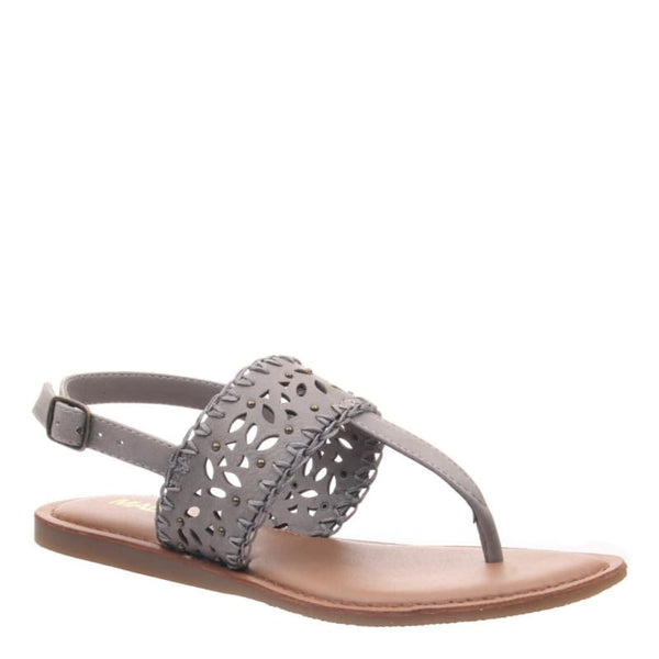 Icon in Dark Taupe Flat Sandals | Women's Shoes by MADELINE GIRL | WOMEN FOOTWEAR