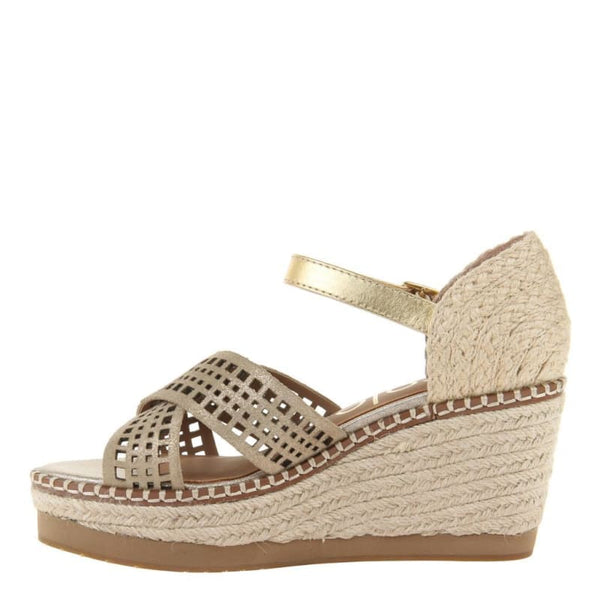 Jozana in Mid Taupe Wedge Sandals | Women's Shoes by NICOLE | WOMEN FOOTWEAR