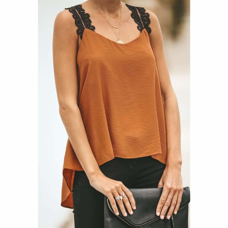 Lace Cami High Low Tank Cute Tops for Skinny Jeans | Tank Tops