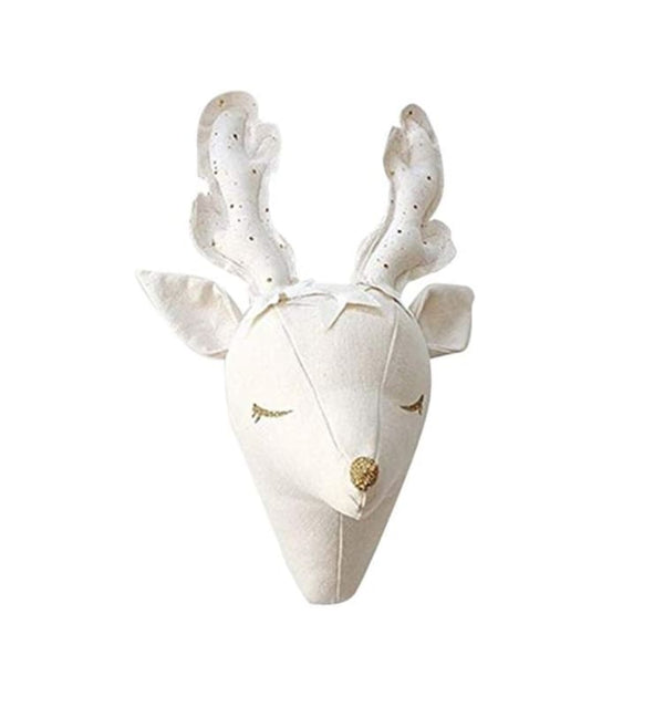 Nordic Stuffed Deer Head | 3D wall hanging