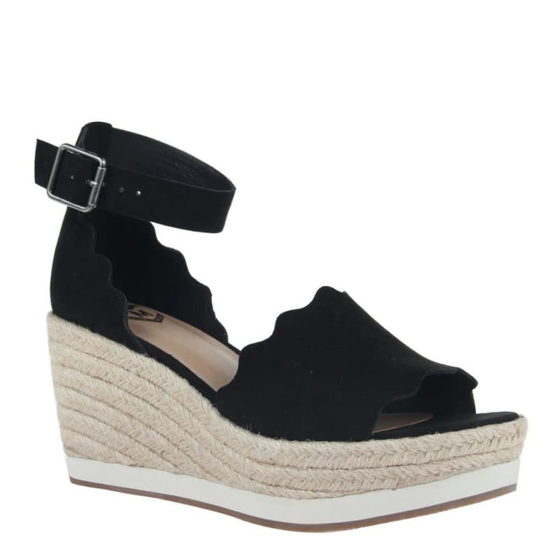 Phantastes in Black Wedge Sandals | Women's Shoes by MADELINE | WOMEN FOOTWEAR