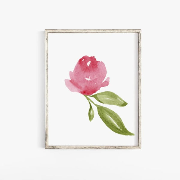 Pink Floral Watercolor DIY Printable Art Print | printable download