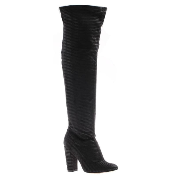 Ricci in Black Fabric Over The Knee Boots | Women's Shoes by NICOLE | WOMEN FOOTWEAR