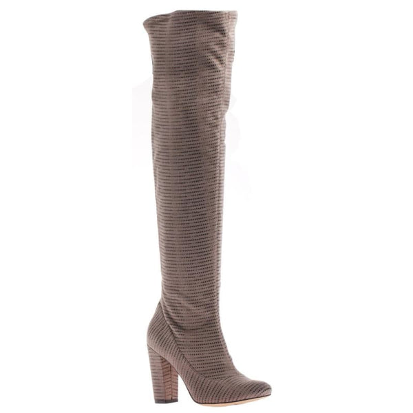 Ricci in Taupe Over The Knee Boots | Women's Shoes by NICOLE | WOMEN FOOTWEAR