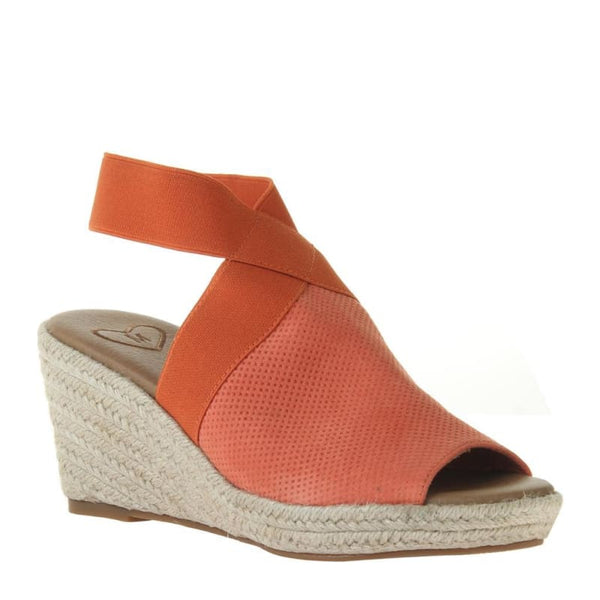 Sunny Day in Mandarin Wedge Sandals | Women's Shoes by MADELINE | WOMEN FOOTWEAR