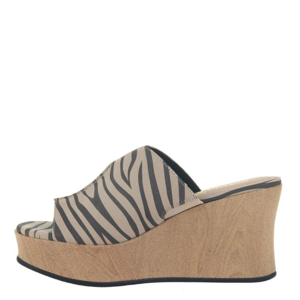 Throwback in Chestnut Wedge Sandals | Women's Shoes by MADELINE GIRL | WOMEN FOOTWEAR