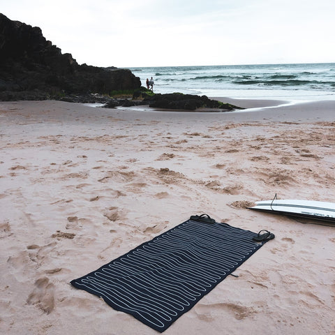 Kings Beach, NSW, Rippled Towel