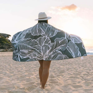 Fig Dark Grey Eco Friendly Beach Towel