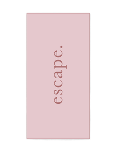 Escape - Light Pink and Maroon Beach Towel that features sand free recycled microfiber technology