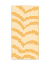 Load image into Gallery viewer, Sunwave - Light Orange Beach Towel that features sand free recycled microfiber technology