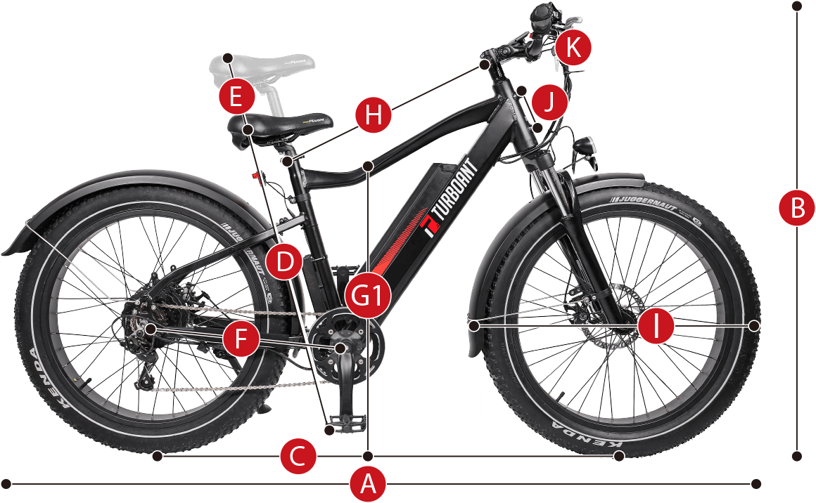 best electric fat tire bike from Turboant with sleek design